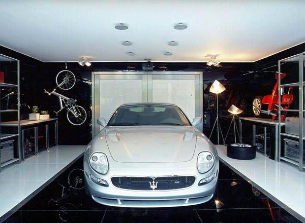 Modern Garage by Brunete Fraccaroli 8 Striking Transparency Showcased By A Modern Live In Garage