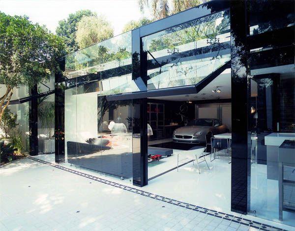Modern Garage by Brunete Fraccaroli 1 Striking Transparency Showcased By A Modern Live In Garage